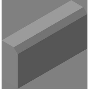 Бордюрный камень КБ-39-350-F200-230 (КБР-КК-18) 1