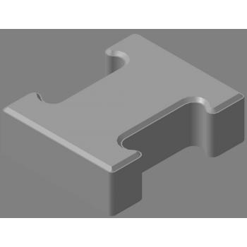 Плитка тротуарная «гантель» 60мм ПТЯ-8-350-F200-240 (ПТГ-КК-25)