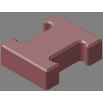 Плитка тротуарная «гантель» 60мм (акция, цвет вишневый)