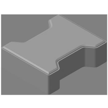 Плитка тротуарная «катушка» 60мм (выбор цвета, размер 203х102х60)