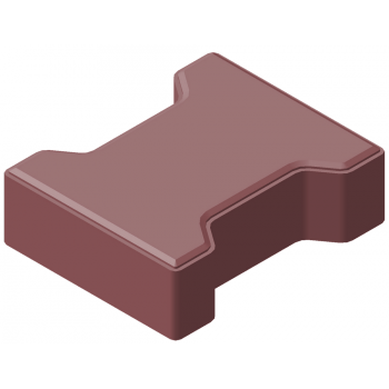 Плитка тротуарная «катушка» 60мм КЦТ-КК-23 цвет красный (акция)