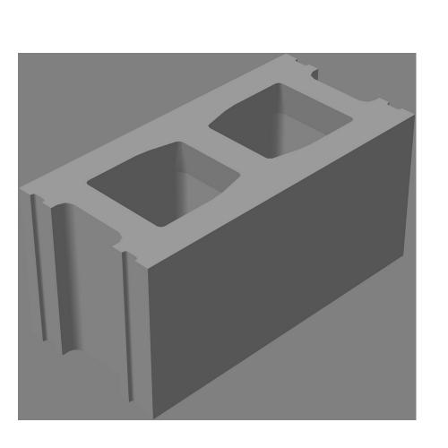 Блок стеновой рядовой КСР-ПР-ПС-39-100-F50-1300 (СКЦ-КК-3)