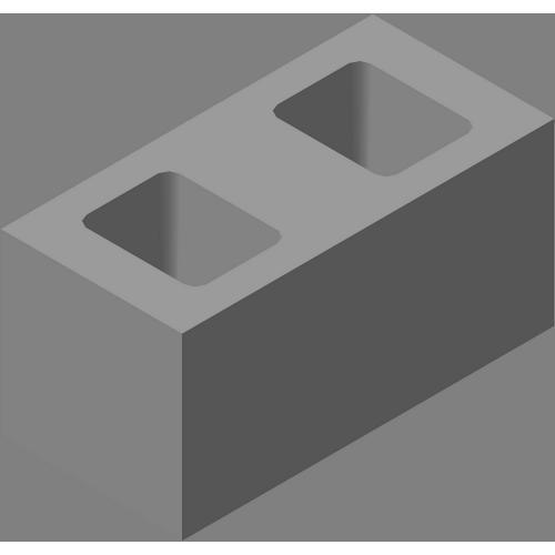 Блок одинарный гладкий