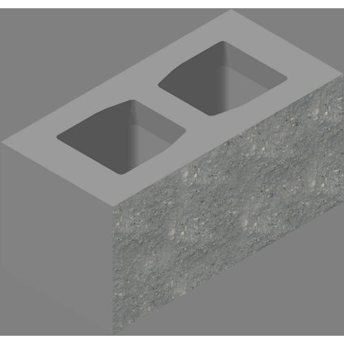 Блок стеновой декоративный лицевой ровный (СКЦД-КК-81)