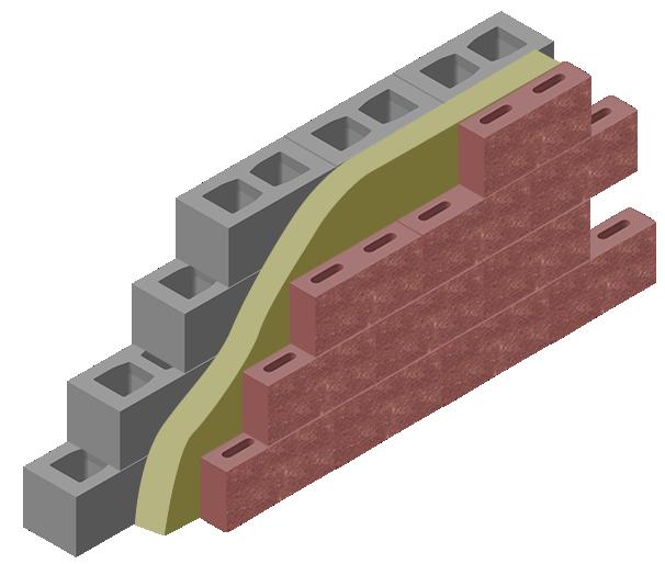 Схема возведения конструкции из стеновых и облицовочных блоков бессер