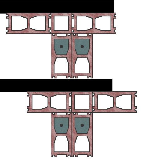 Вариант №1 формирования столбов из блоков Бессер