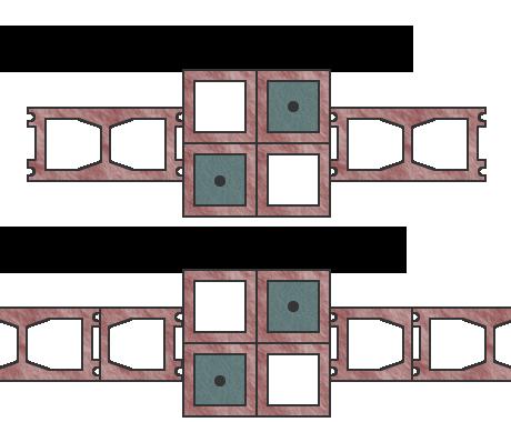 Вариант №2 строения столбов из блоков Besser